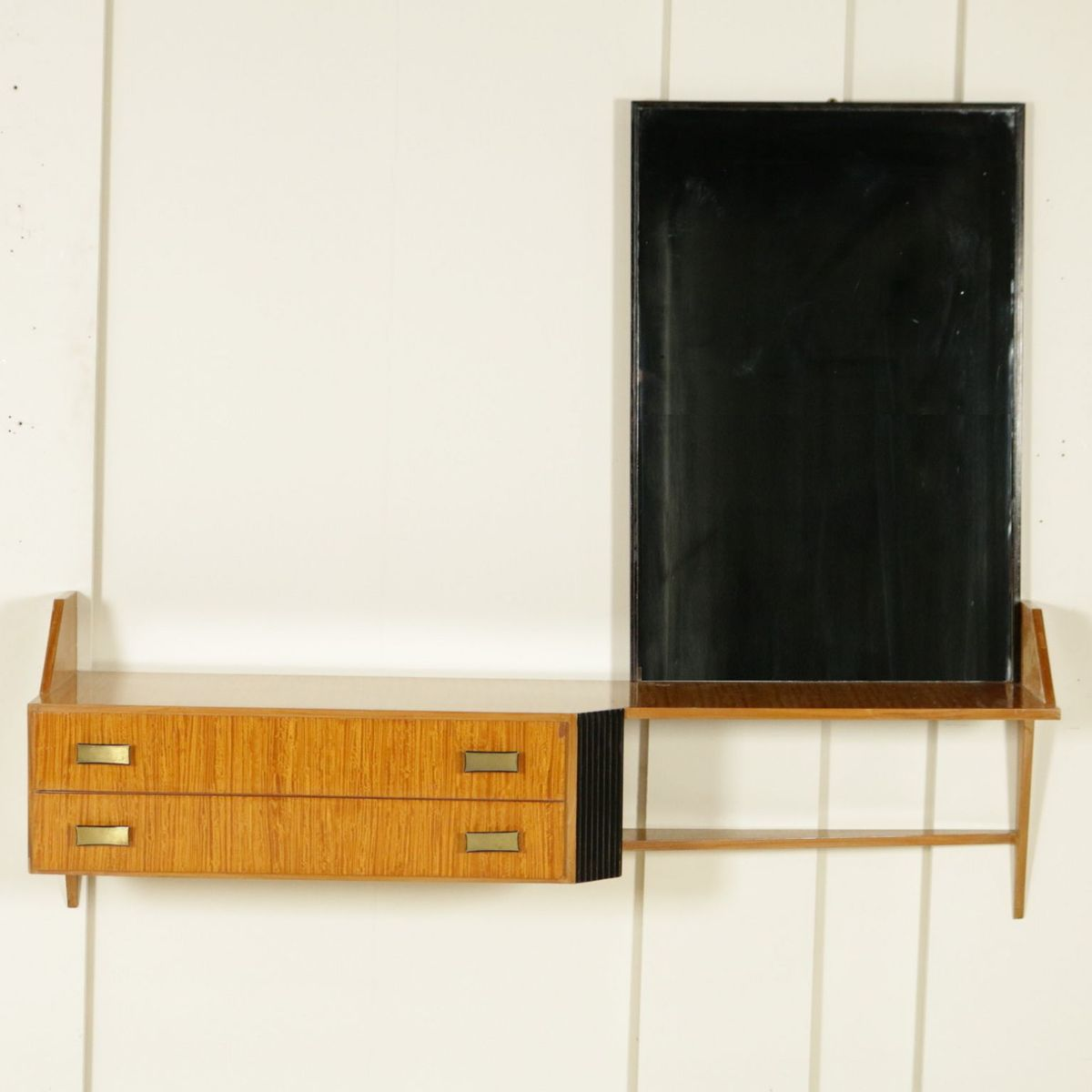 italienische mid century frisierkommode mit spiegel aus. Black Bedroom Furniture Sets. Home Design Ideas