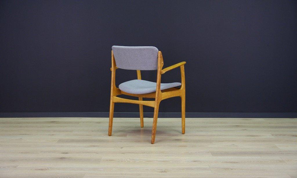 D nischer vintage eichenholz armlehnstuhl von erik buch for Stuhl design buch
