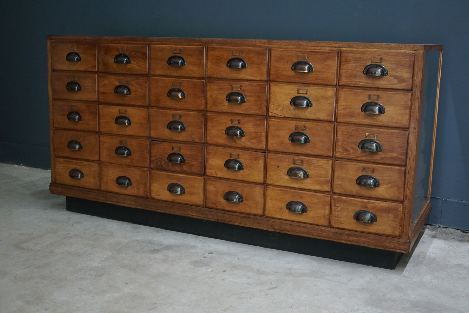 British Oak Haberdashery Cabinet or Shop Counter, 1930s for sale ...