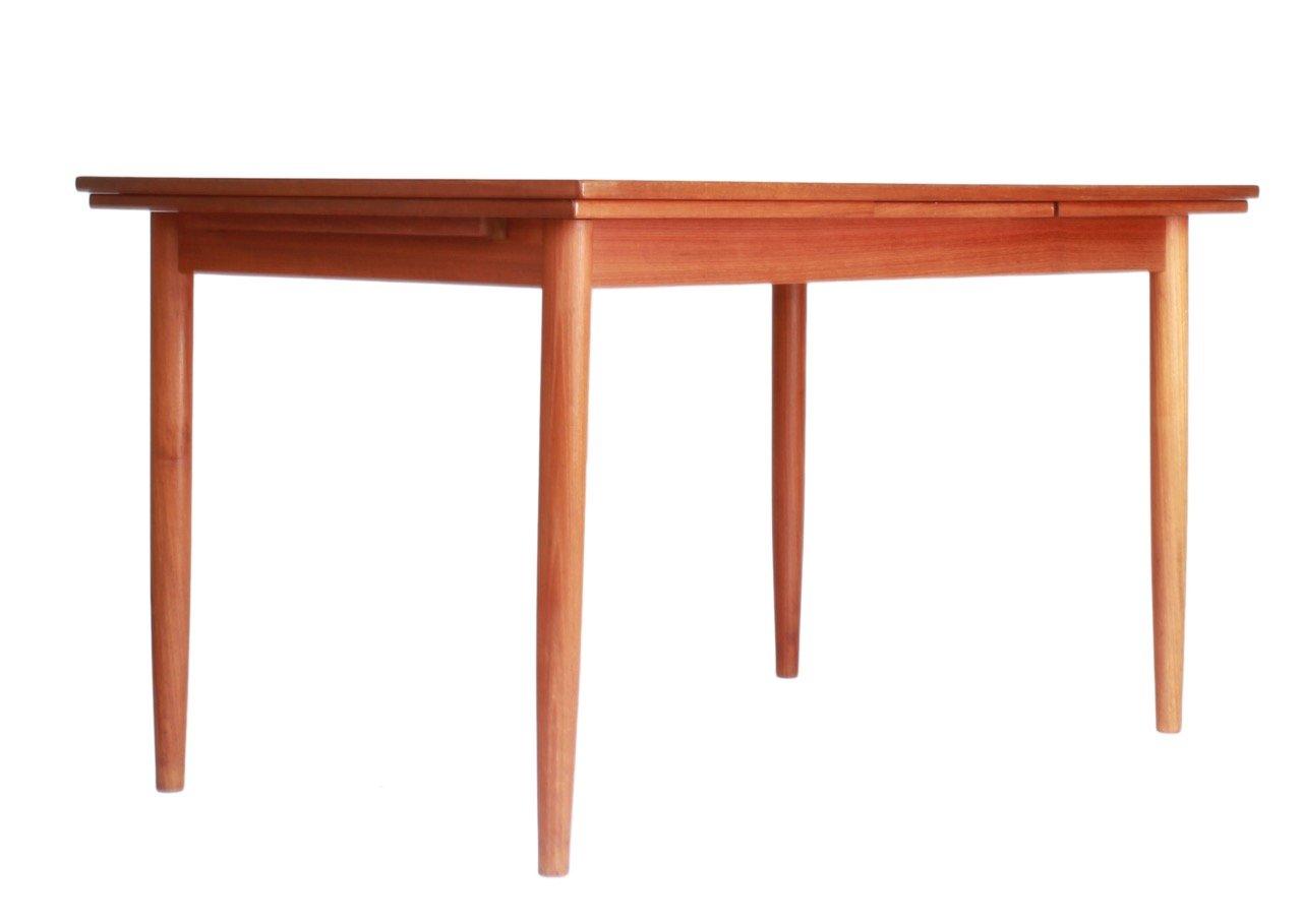 Vintage scandinavian dining table in teak for sale at pamono - Dining table scandinavian ...