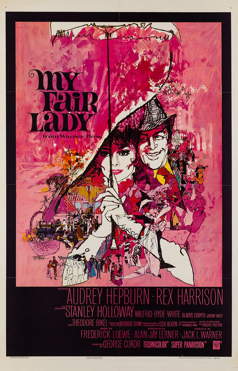 My Fair Lady Poster By Bob Peak 1964 For Sale At Pamono