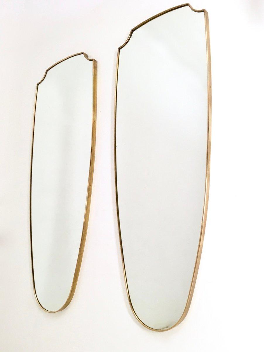 italienische mid century wandspiegel mit rahmen aus. Black Bedroom Furniture Sets. Home Design Ideas