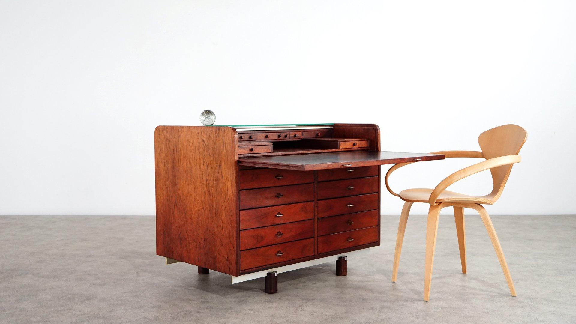 palisander schreibtisch von gianfranco frattini f r. Black Bedroom Furniture Sets. Home Design Ideas