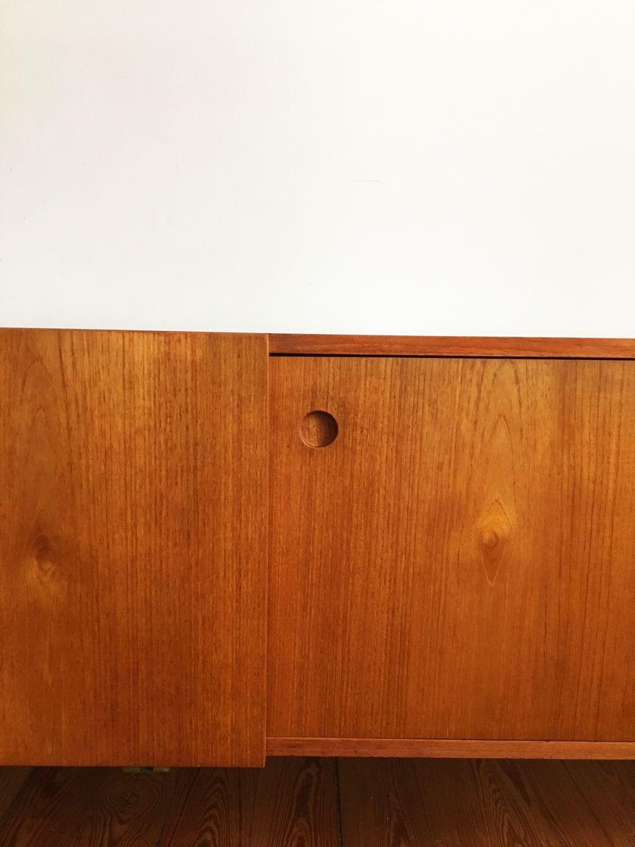 Mid century teak furnier sideboard von ib kofod larsen f r for Sideboard untergestell