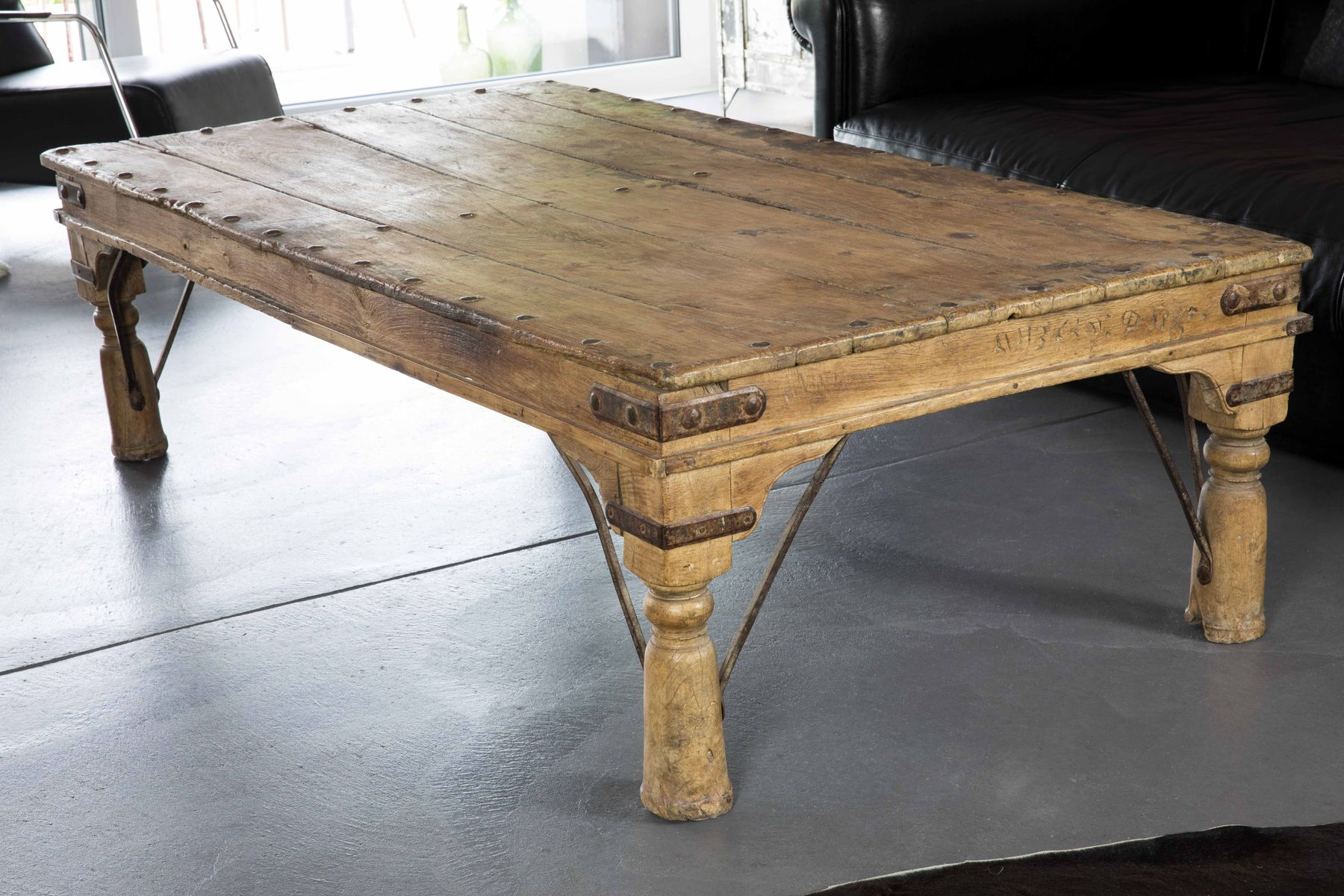 Vintage Indian Coffee Table In Wood For Sale At Pamono
