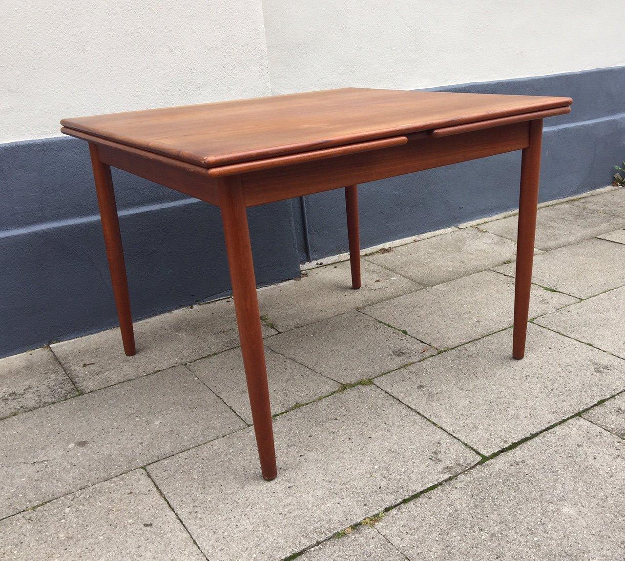 Danish Mid Century Extendable Teak Dining Table From