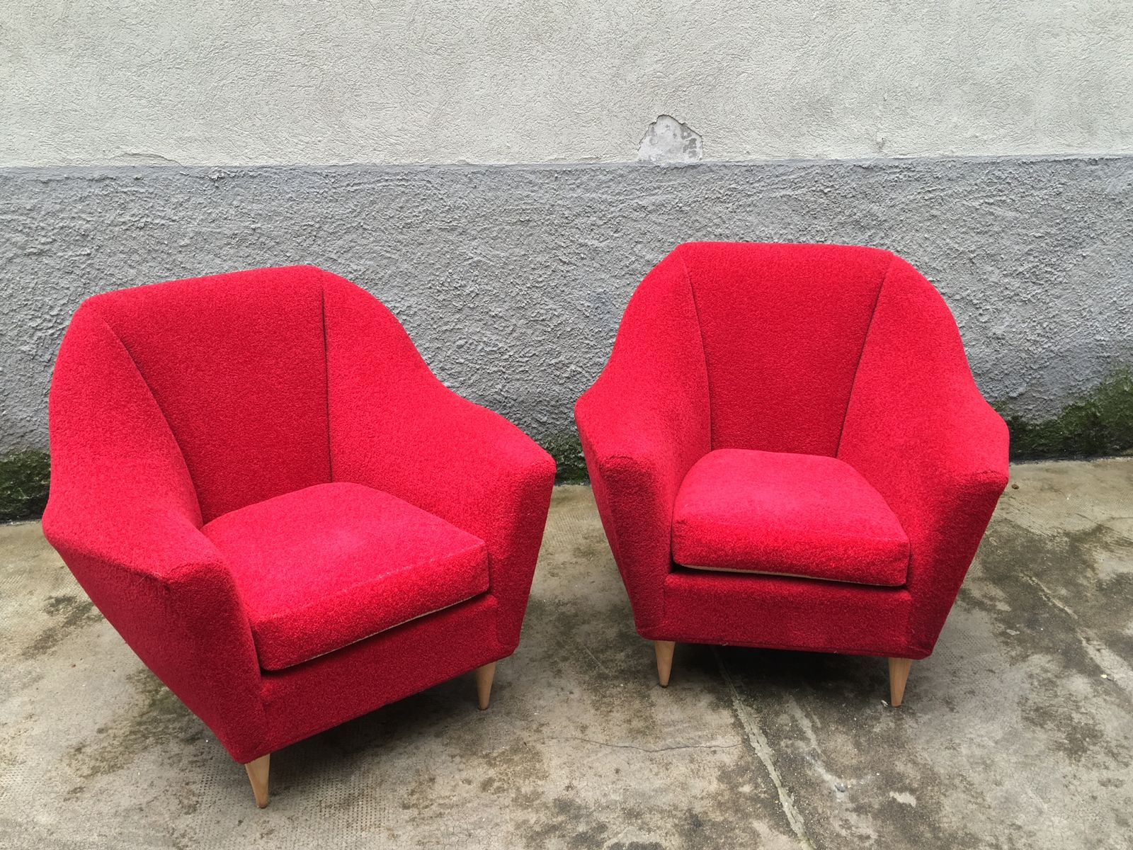 Vintage Red Living Room Set From Ariberto Colombo