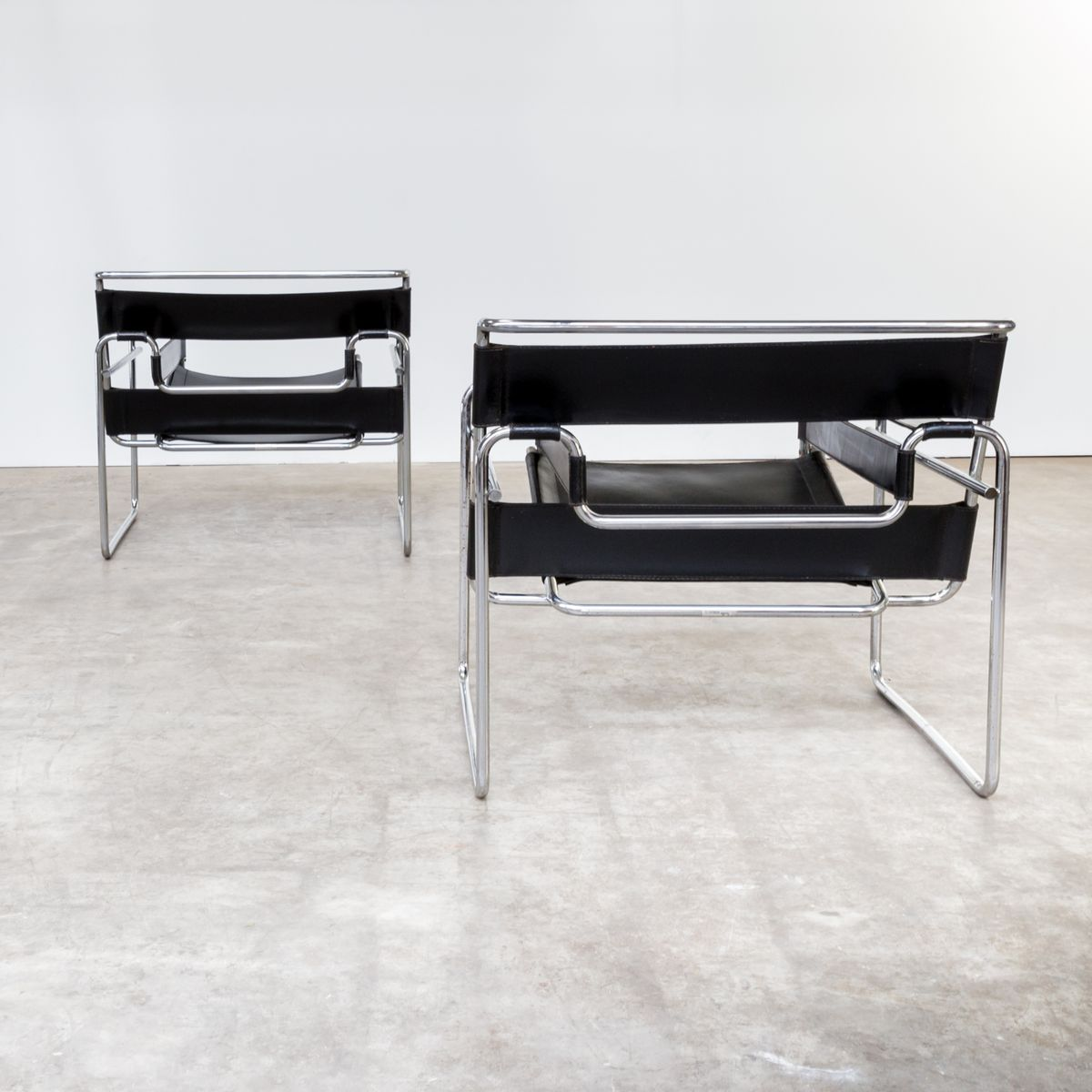 b3 wassily st hle von marcel breuer f r gavina 2er set. Black Bedroom Furniture Sets. Home Design Ideas
