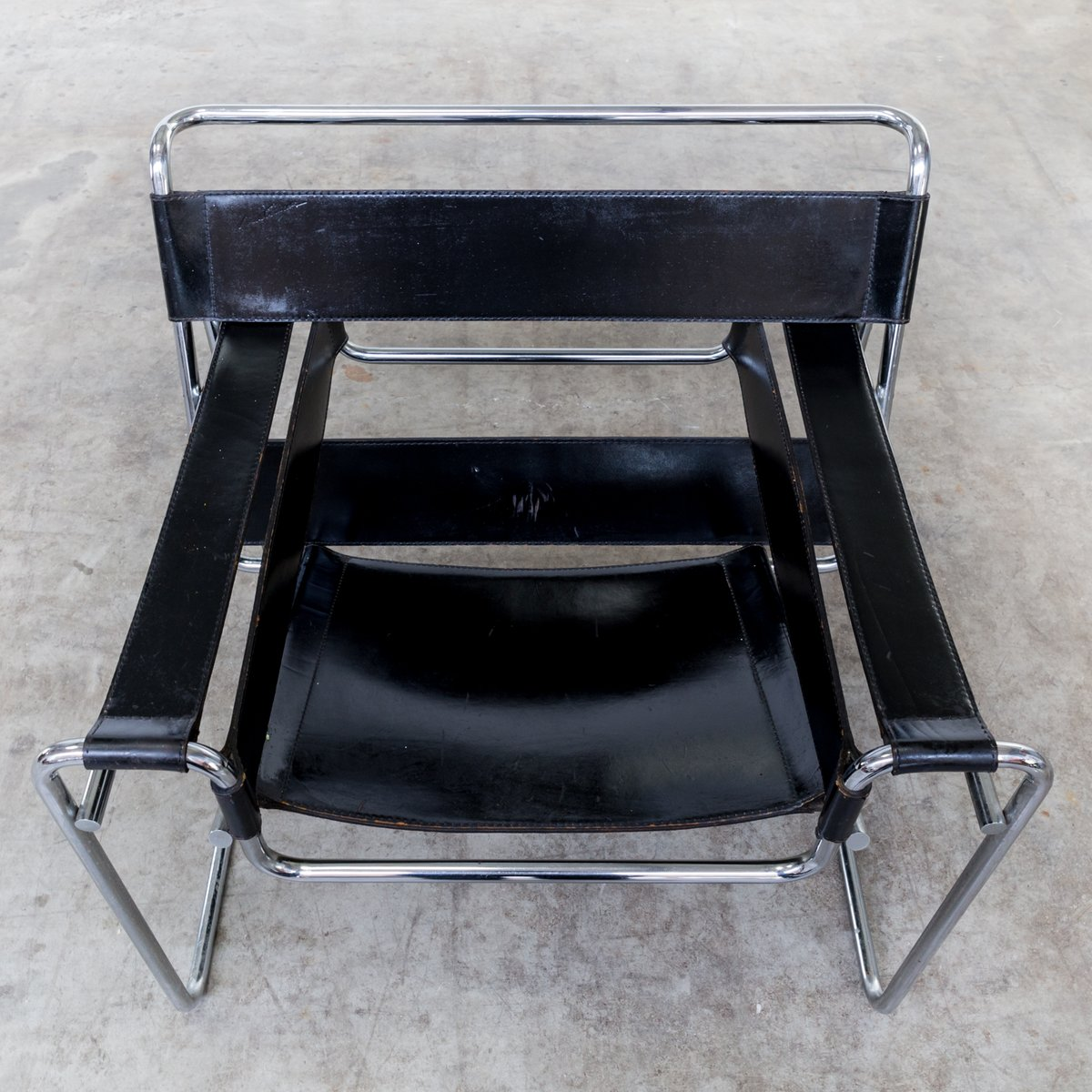 vintage b3 wassily chairs by marcel breuer for gavina set of 2 for sale at pamono. Black Bedroom Furniture Sets. Home Design Ideas