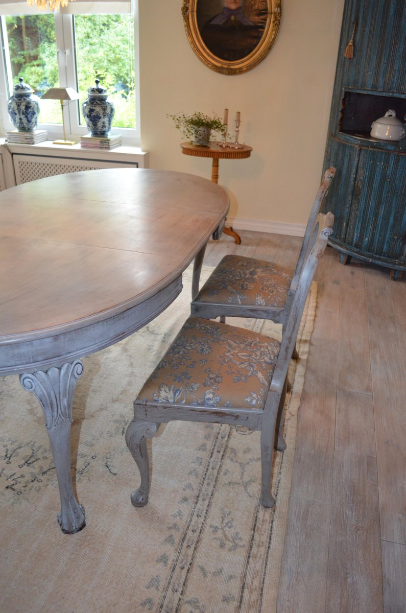 Antique dining room set for sale at pamono for Antique dining room sets