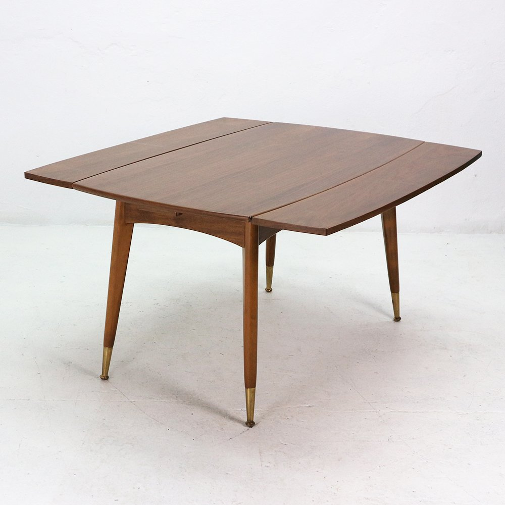 Walnut veneer coffee or dining table 1950s for sale at pamono Coffee table dining