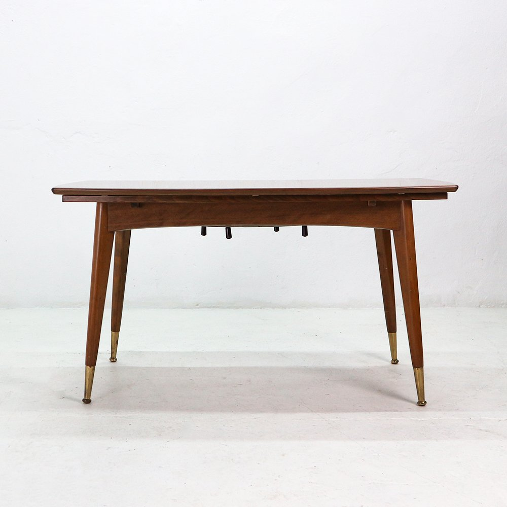 Walnut Veneer Coffee Or Dining Table 1950s For Sale At Pamono