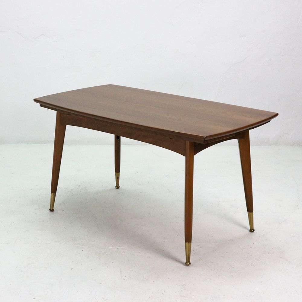 walnut veneer coffee or dining table 1950s for sale at pamono. Black Bedroom Furniture Sets. Home Design Ideas