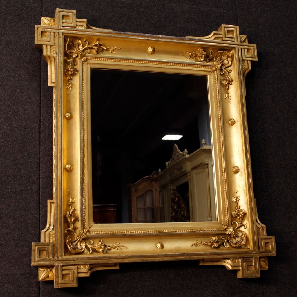 Antique french gilded mirror 1870s for sale at pamono for Antique french mirror