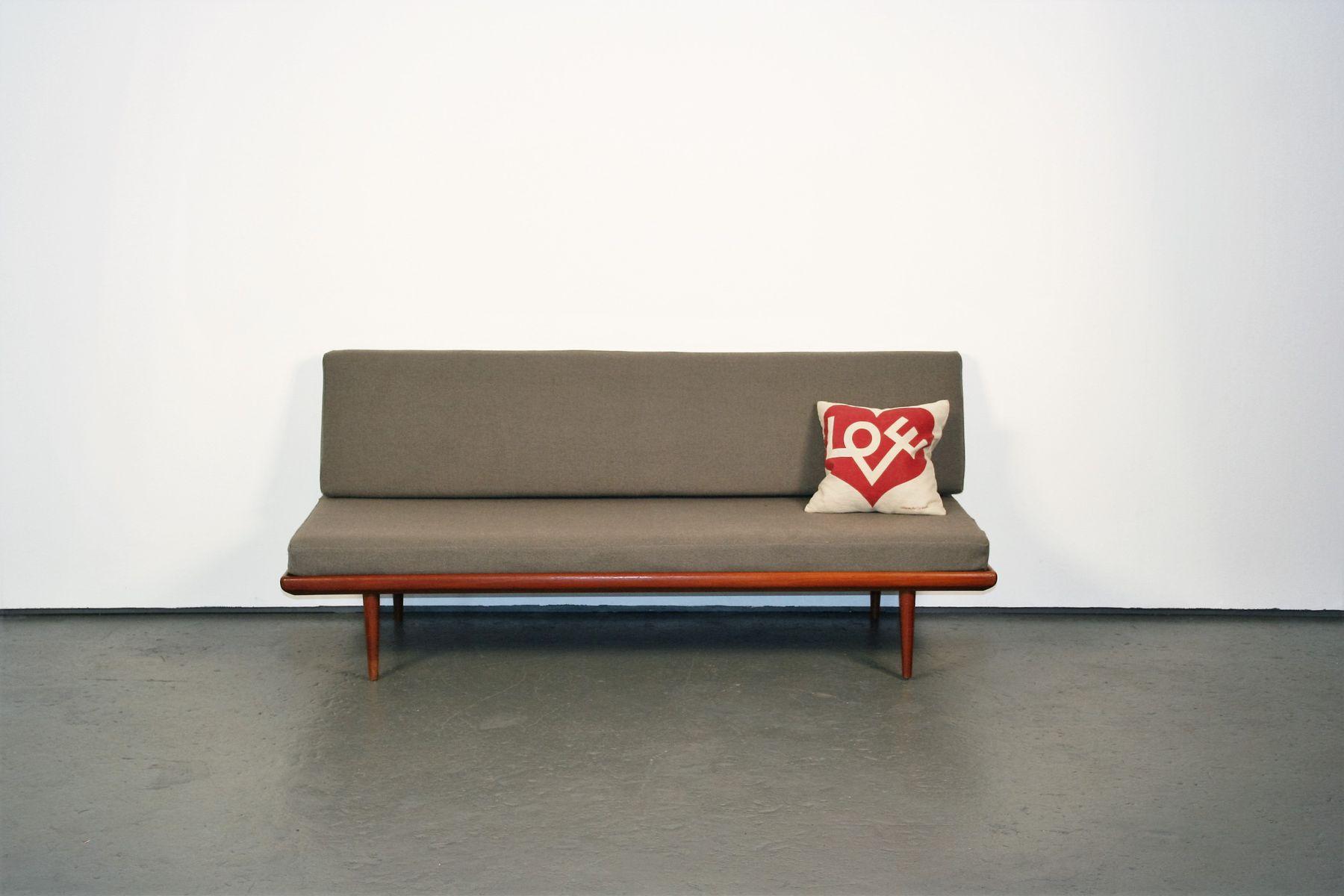 Minerva Daybed Sofa in Teak by Peter Hvidt & Orla M¸lgaard Nielsen