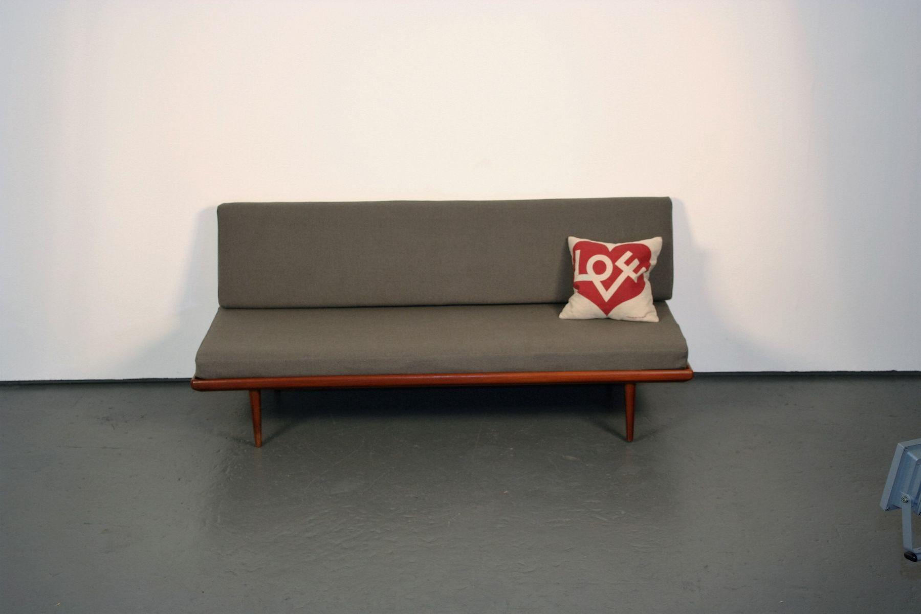 Minerva Daybed Sofa in Teak by Peter Hvidt Orla Mlgaard Nielsen