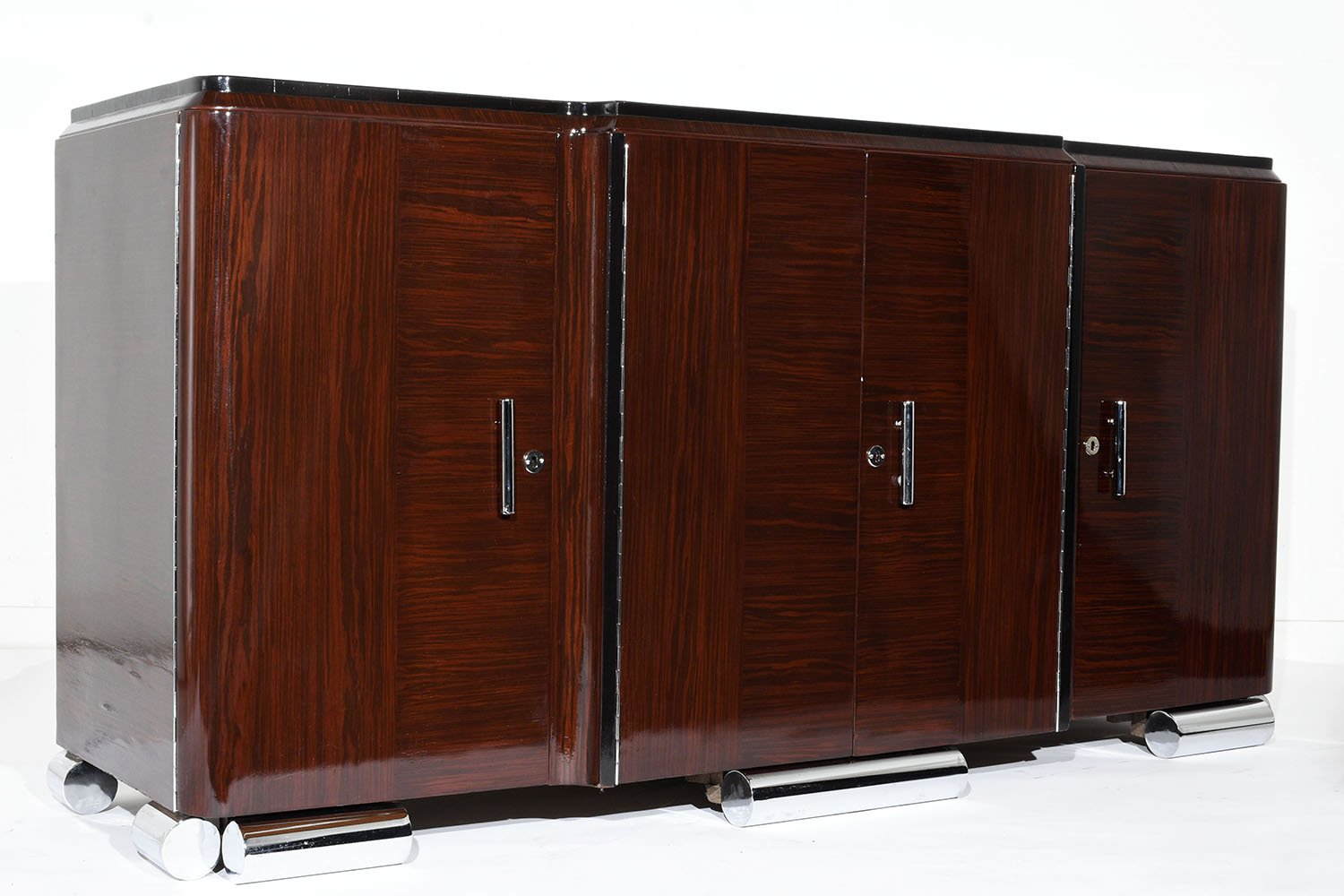 french art deco macassar buffet 1930s for sale at pamono. Black Bedroom Furniture Sets. Home Design Ideas