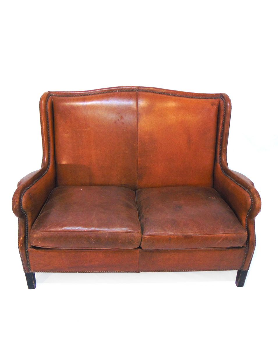 Vintage Scandinavian Sofa In Brown Leather 3. $2,372.00. Price Per Piece