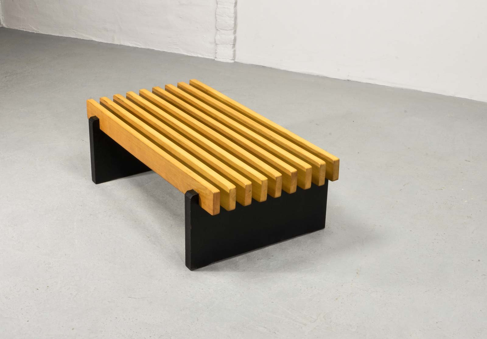 Mid century dutch bench with beech wooden slats 1960s for sale at price per piece geotapseo Gallery