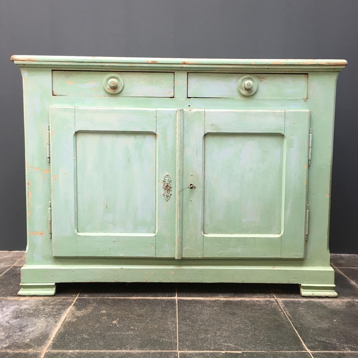 Green french cabinet 1930s for sale at pamono for 1930s kitchen cabinets for sale