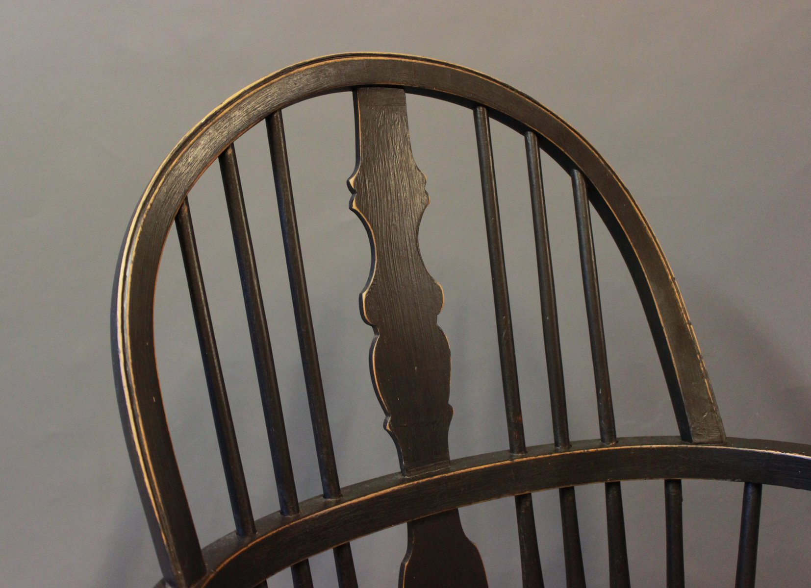 Black Painted Windsor Armchairs 1880s Set of 2 for sale at Pamono