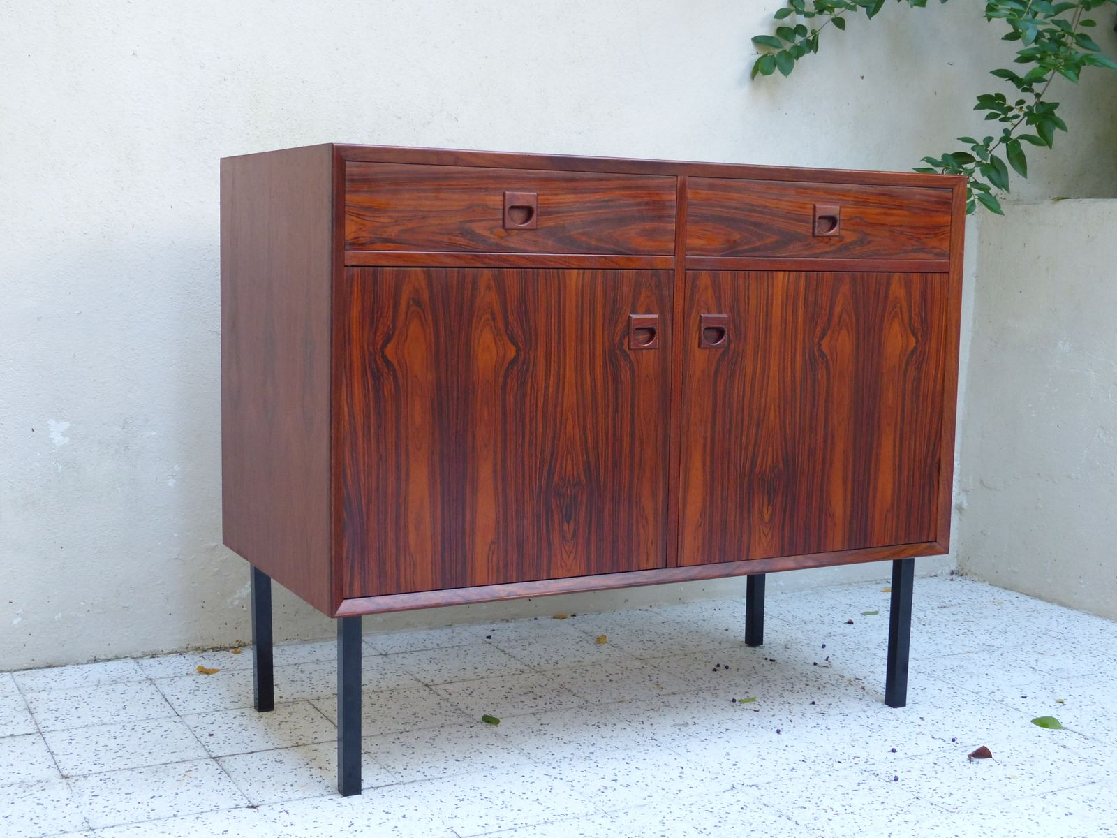 skandinavisches vintage rio palisander sideboard bei. Black Bedroom Furniture Sets. Home Design Ideas