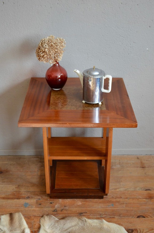 art deco side table 1930s for sale at pamono. Black Bedroom Furniture Sets. Home Design Ideas