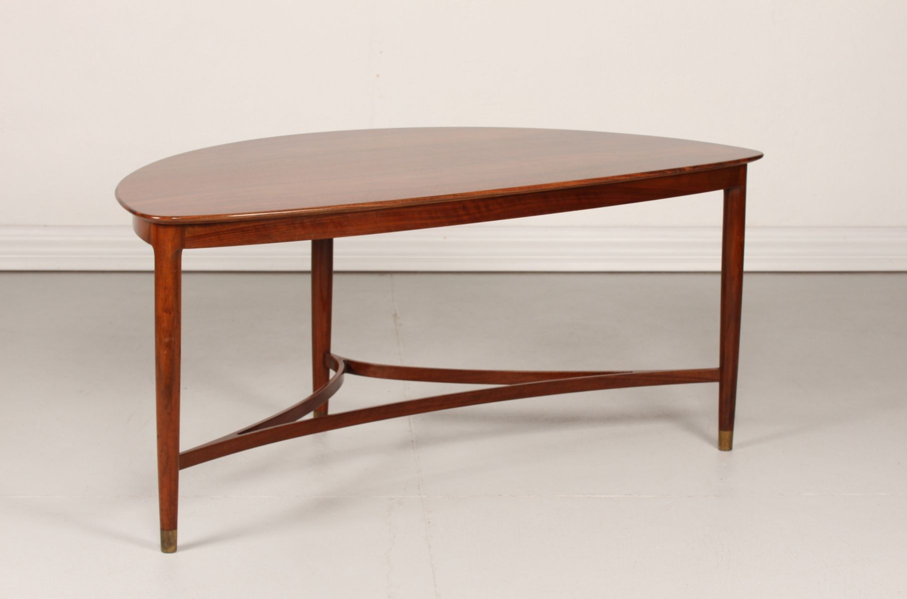 Danish Triangular Coffee Table, 1950s