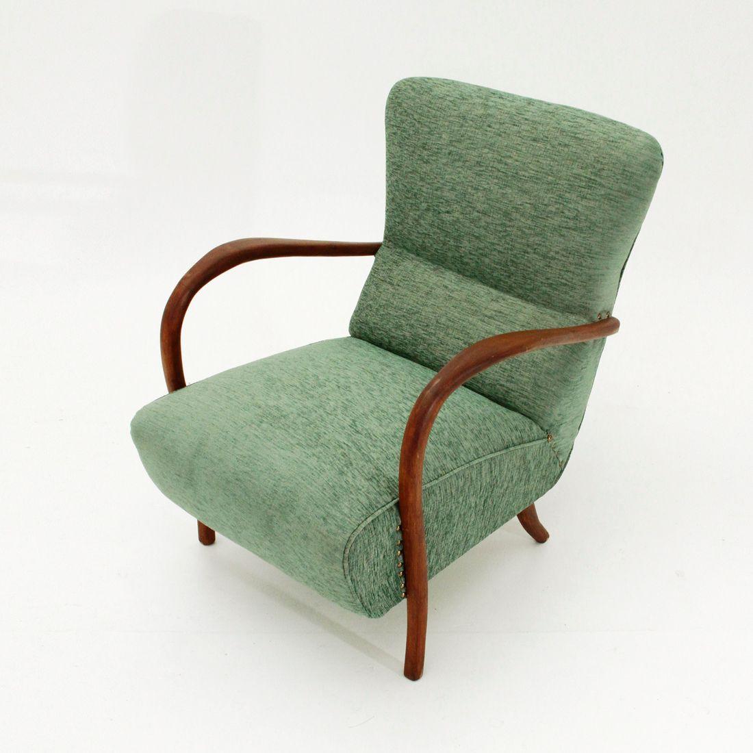 Sessel Aus Holz italienischer sessel mit armlehnen aus holz 1940er bei pamono kaufen