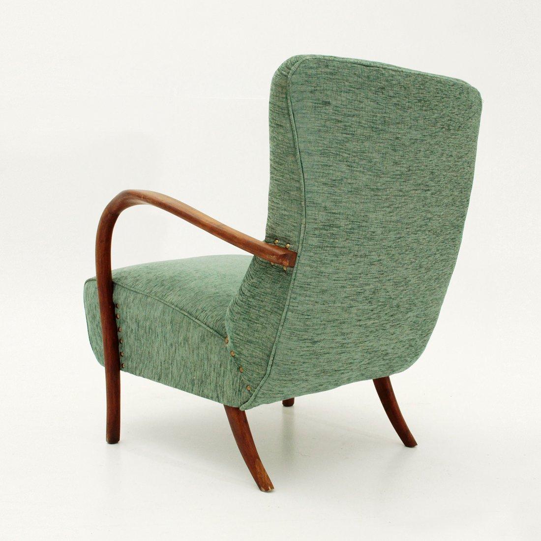 italienischer sessel mit armlehnen aus holz 1940er bei pamono kaufen. Black Bedroom Furniture Sets. Home Design Ideas