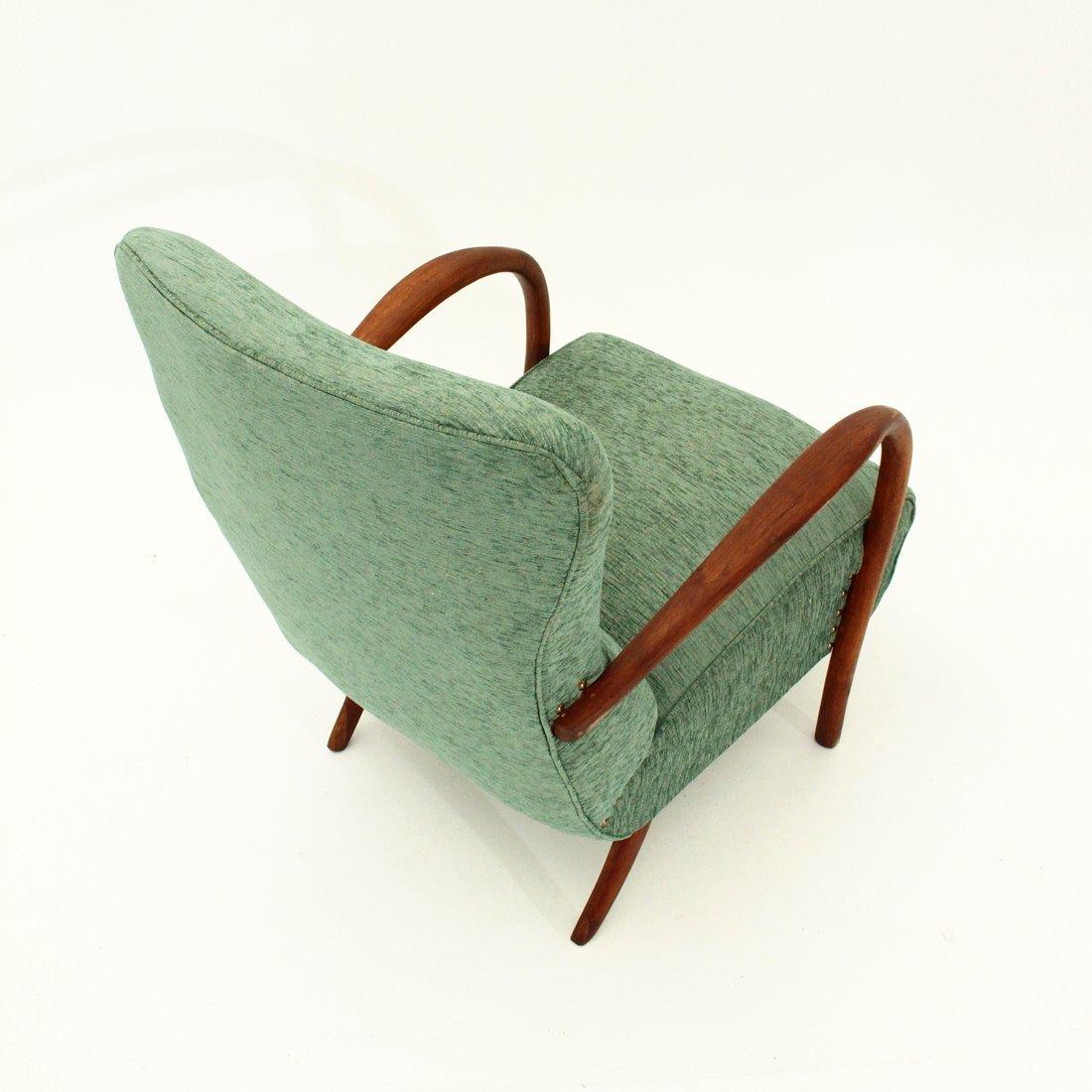 italienischer sessel mit armlehnen aus holz 1940er bei. Black Bedroom Furniture Sets. Home Design Ideas