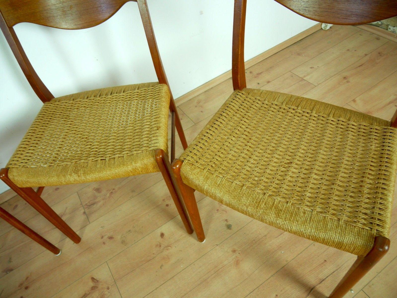 d nische teak st hle von peder kristensen f r glyngore stolefabrik 1960er 4er set bei pamono. Black Bedroom Furniture Sets. Home Design Ideas