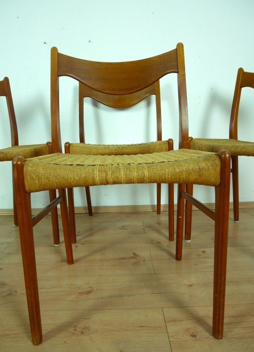 Danish Teak Chairs By Peder Kristensen For Glyngore Stolefabrik ...