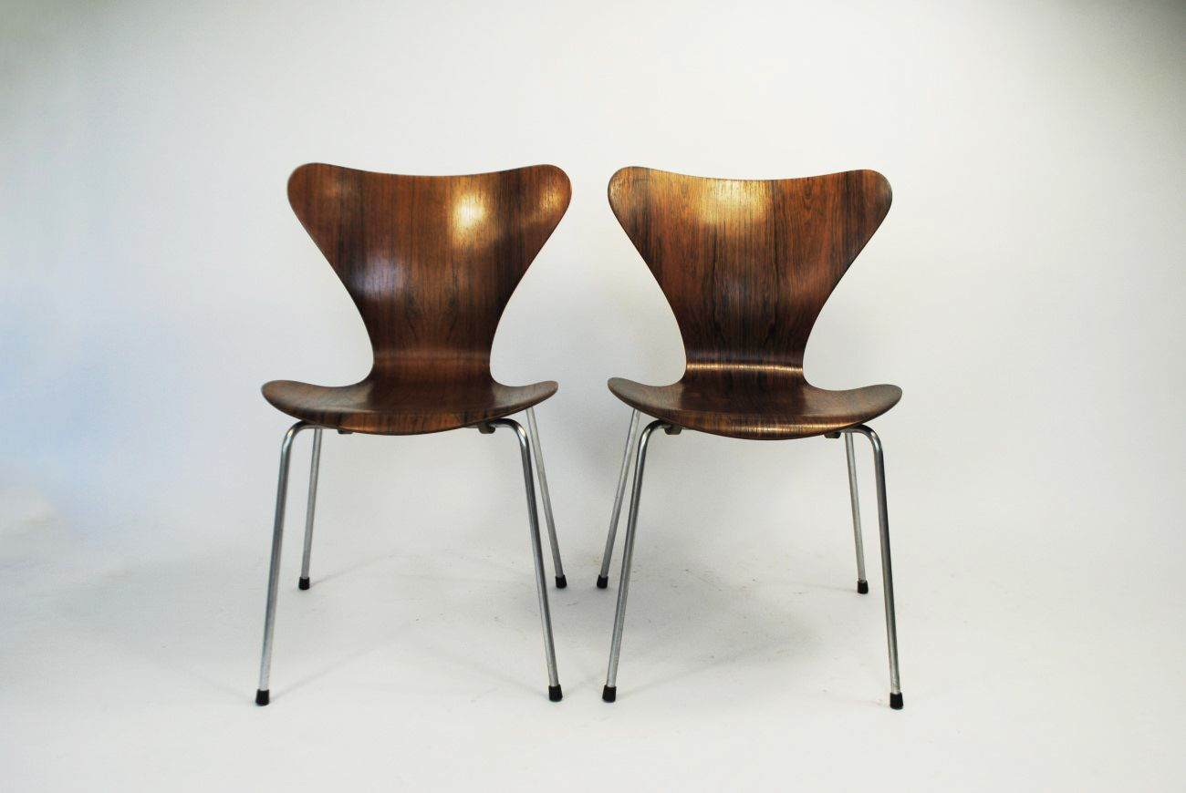 Rosewood 7 series chair by arne jacobsen for fritz hansen for Arne jacobsen chaise