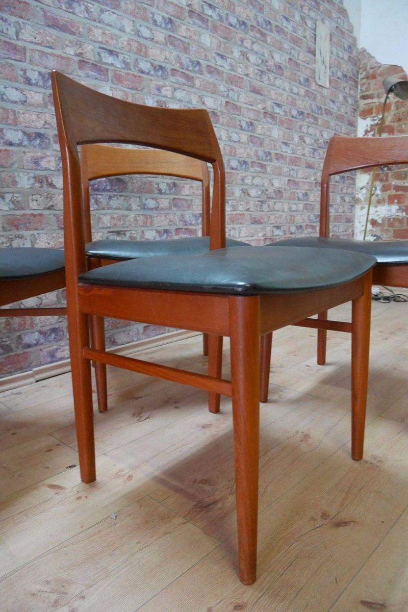 d nische mid century teak st hle von vejle stolefabrik 4er set bei pamono kaufen. Black Bedroom Furniture Sets. Home Design Ideas