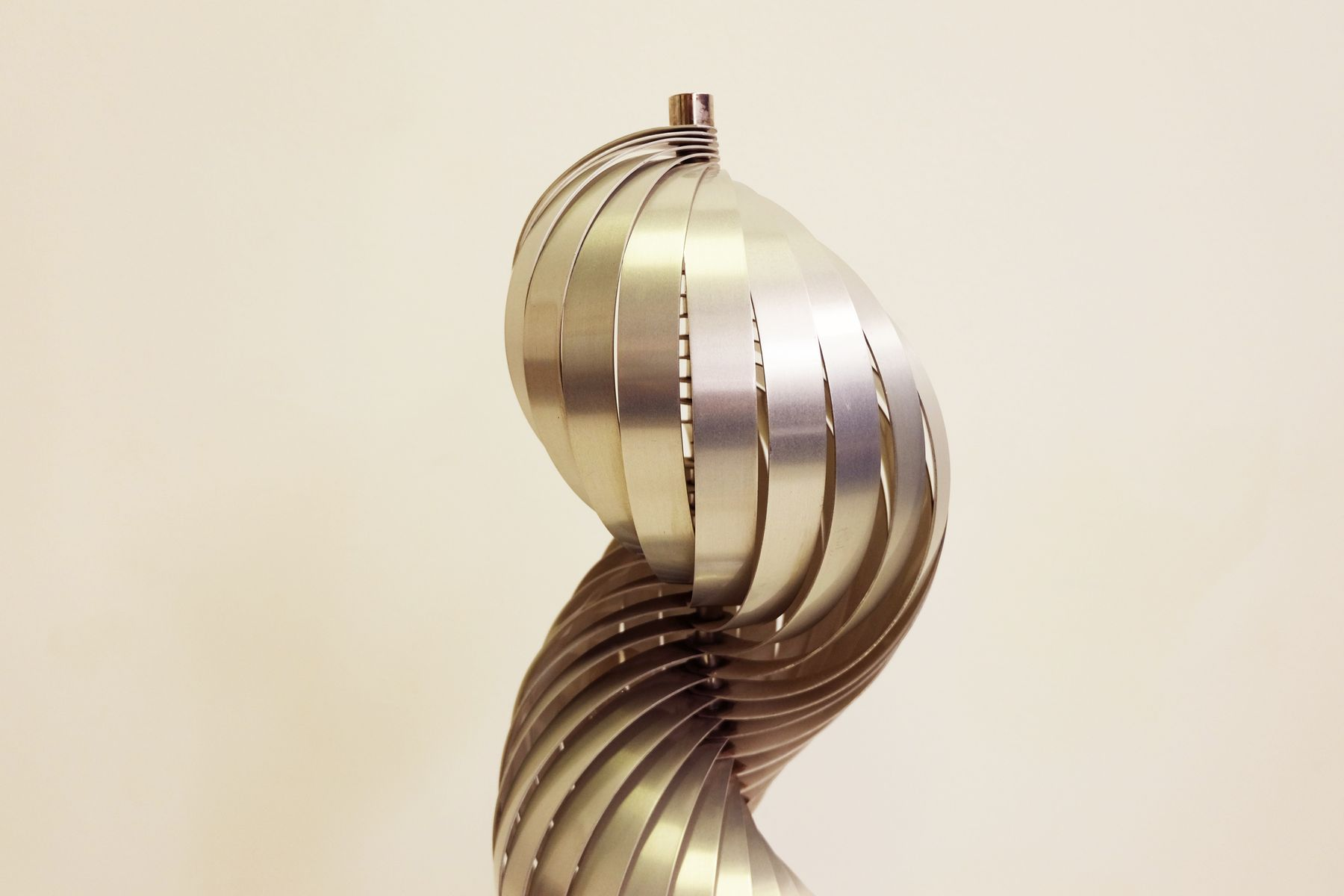 Spiral floor lamp by henri mathieu for lyfa 1970s for for Spiral wood floor lamp