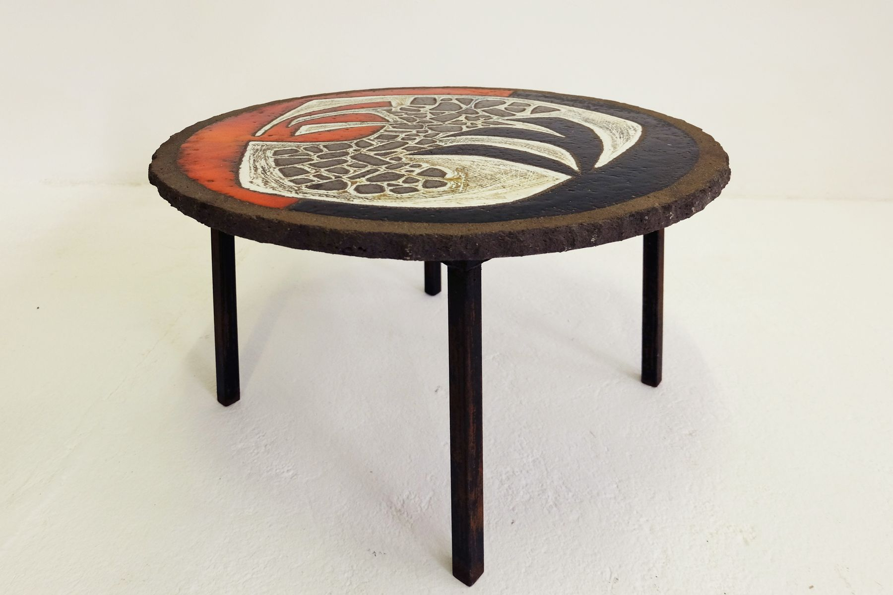 French Brutalist Coffee Table 1950s For Sale At Pamono