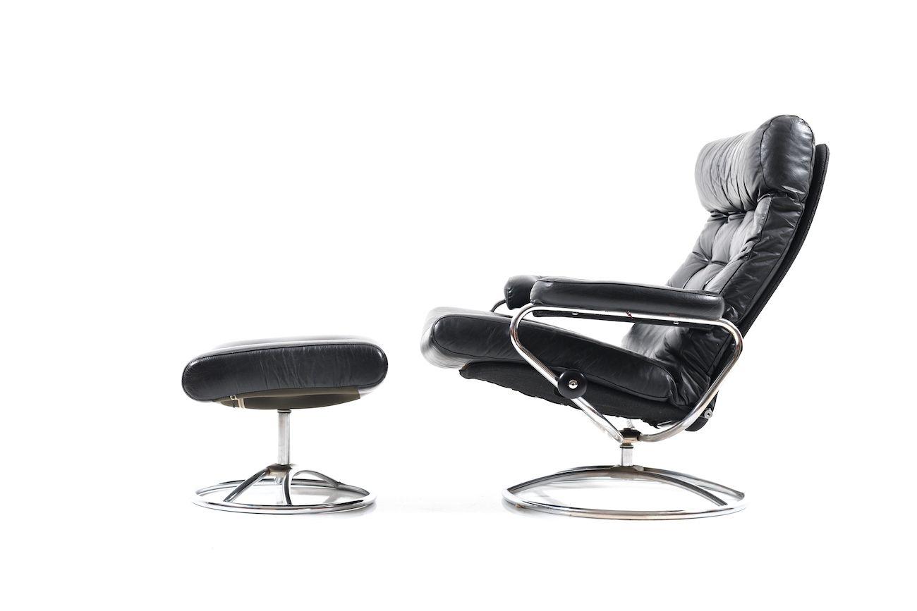 stressless mid century sessel und ottomane von ekornes bei pamono kaufen. Black Bedroom Furniture Sets. Home Design Ideas