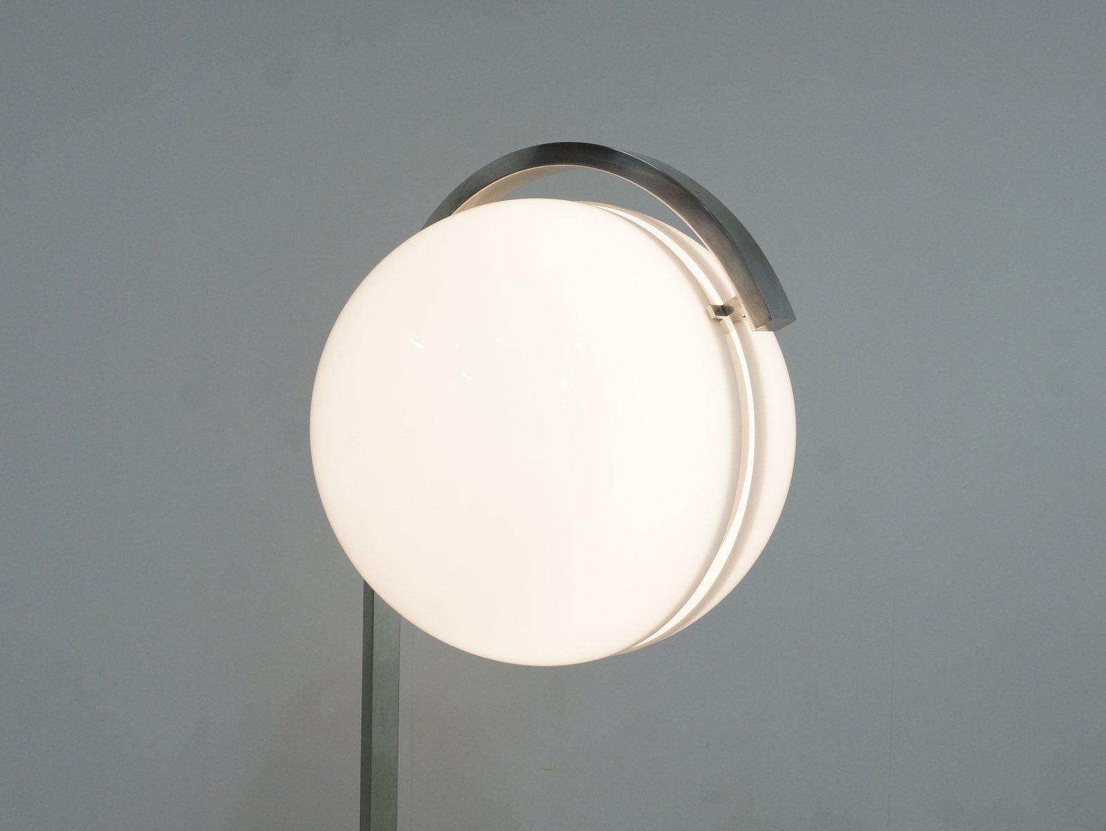 Acrylic Globe Floor Lamp on Carrara Marble Base from ...