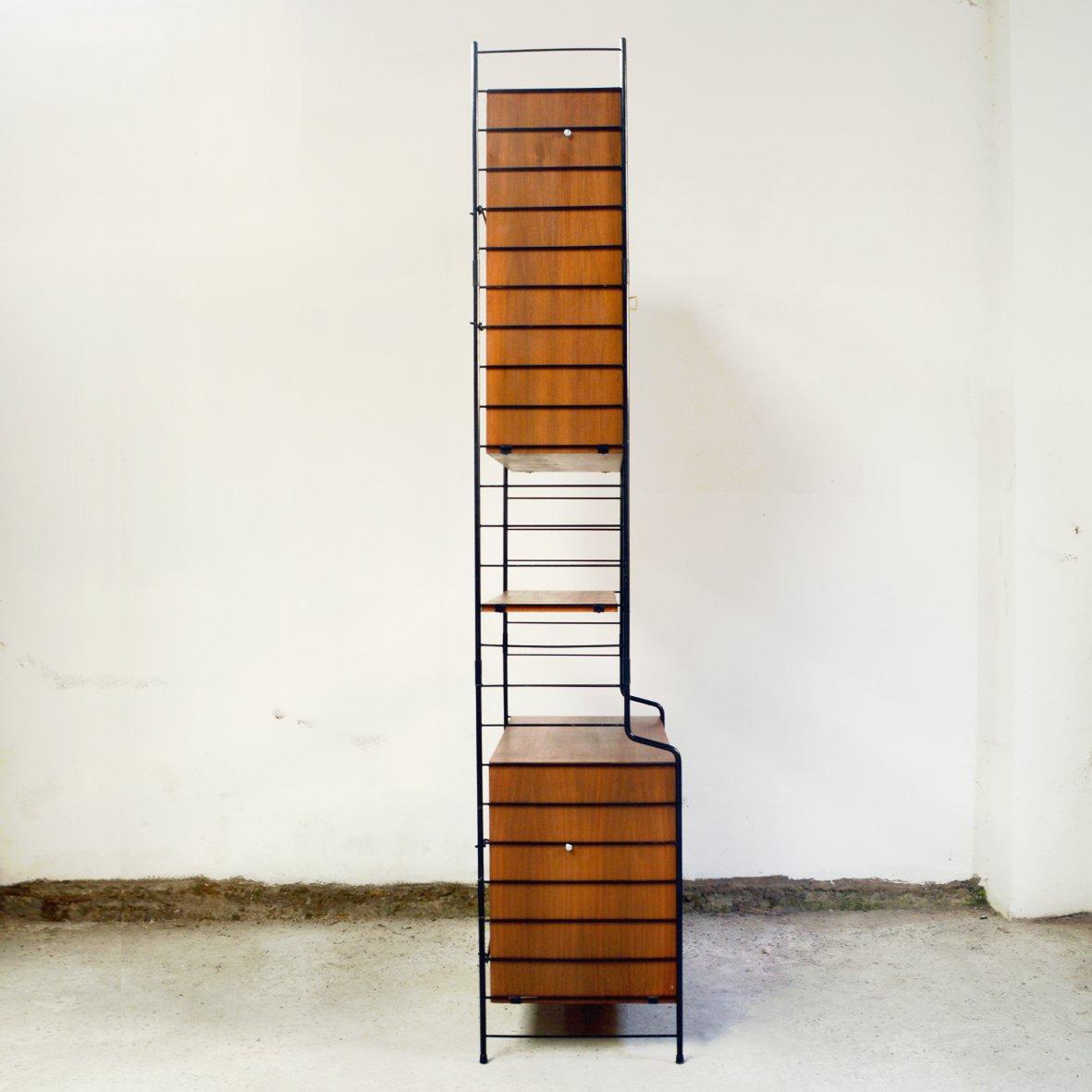 modulares regalsystem aus teak furnier von whb 1960er bei. Black Bedroom Furniture Sets. Home Design Ideas