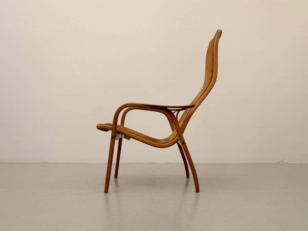 Suede Lamino Chair By Yngve Ekström For Swedese, 1964