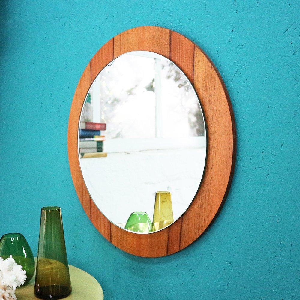 wandspiegel mit rahmen aus walnuss furnier 1960er bei. Black Bedroom Furniture Sets. Home Design Ideas