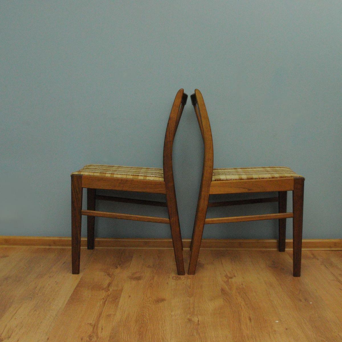 d nische teak st hle 1960er 4er set bei pamono kaufen. Black Bedroom Furniture Sets. Home Design Ideas