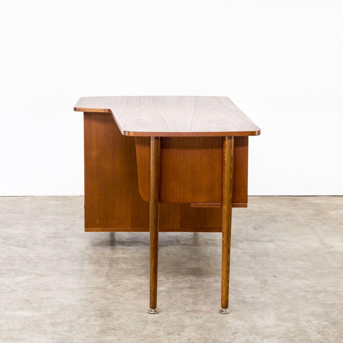teak schreibtisch 1960er bei pamono kaufen. Black Bedroom Furniture Sets. Home Design Ideas