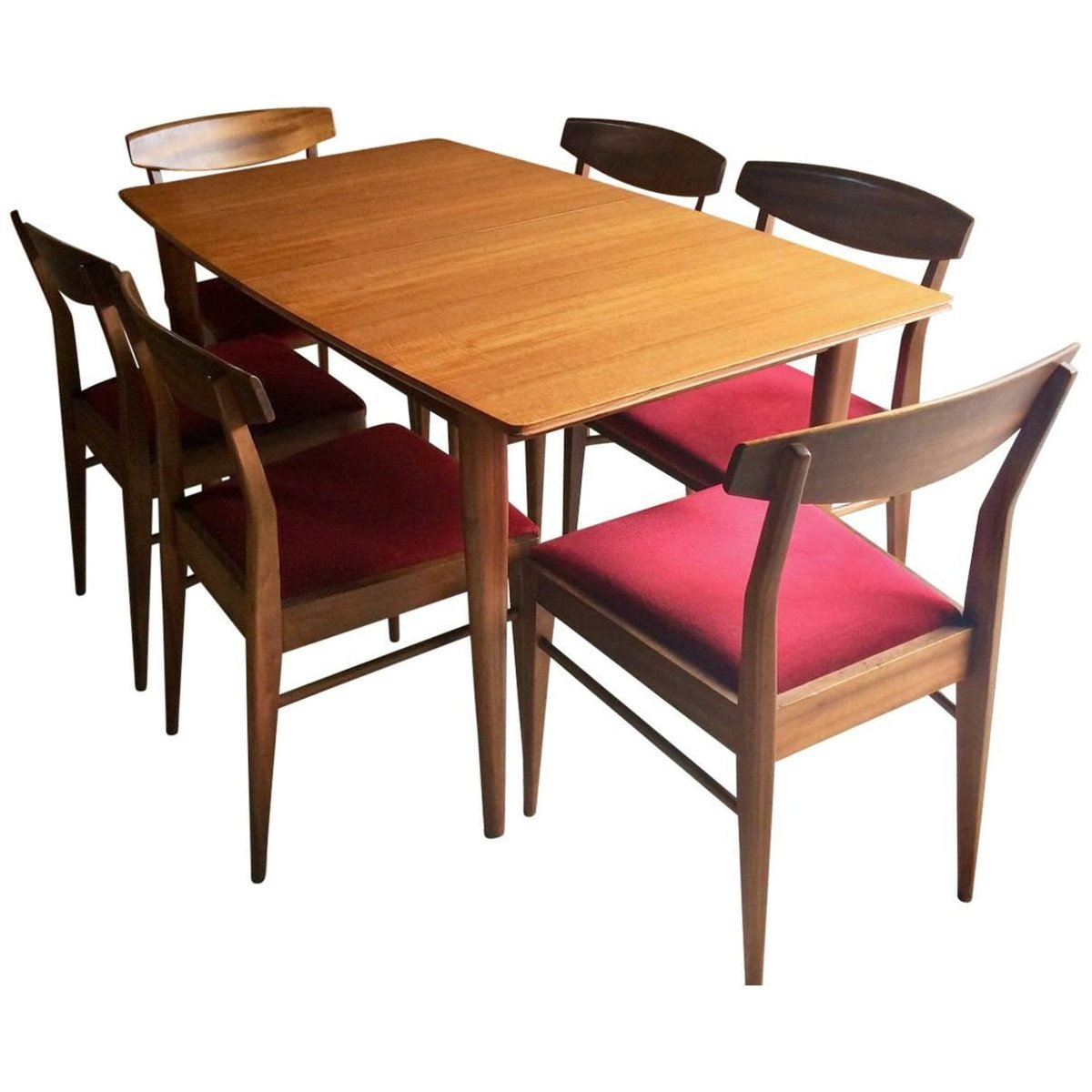 Solid teak extending dining table and 6 chairs from for Dining table and 6 chairs