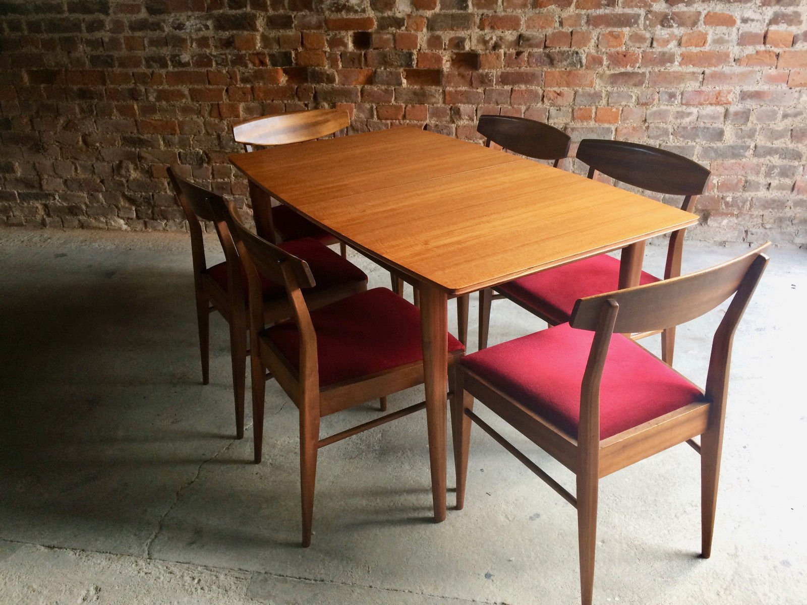 Solid Teak Extending Dining Table And 6 Chairs From