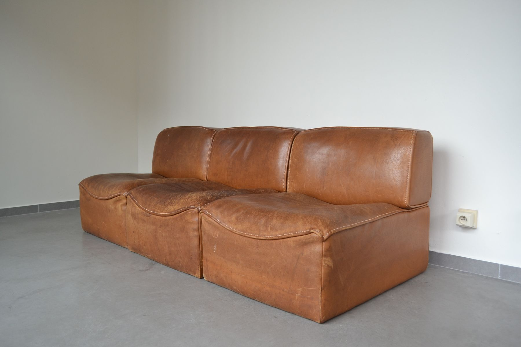 sectional ds15 sofa from de sede 1970s for sale at pamono. Black Bedroom Furniture Sets. Home Design Ideas