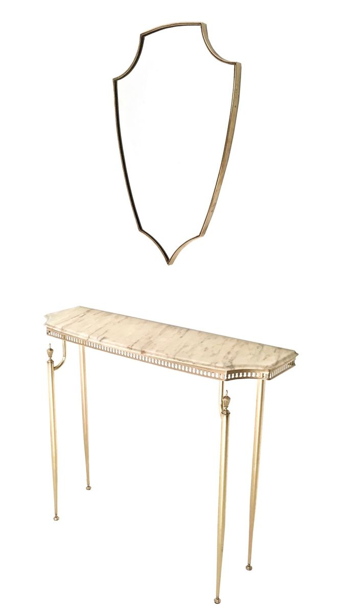 Italian demilune marble and brass console table 1950s for for Sofa table rules
