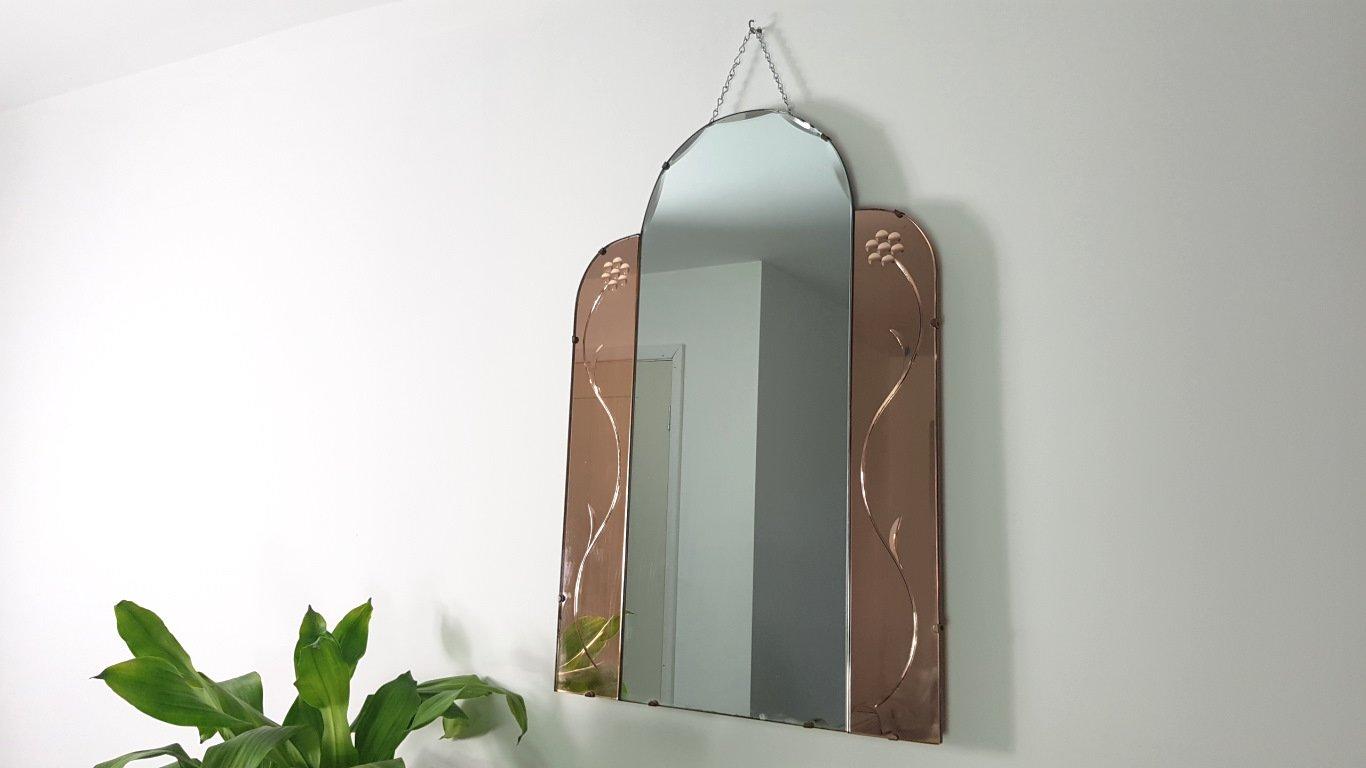 Miroir vintage sans cadre en vente sur pamono for Miroir sans cadre