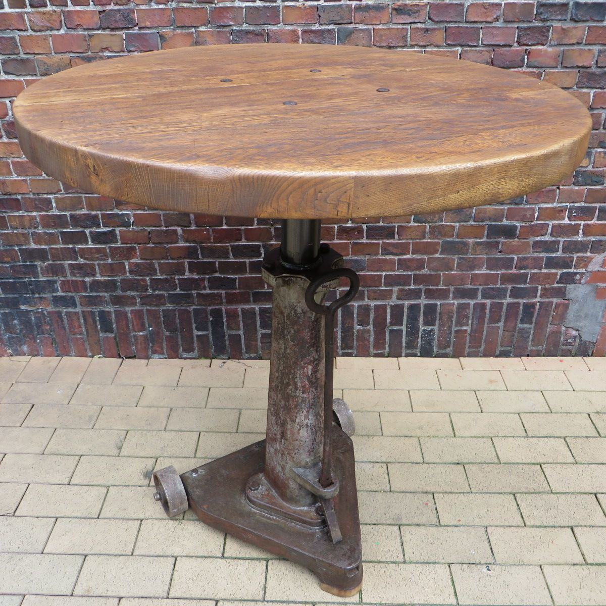 Vintage Cast Iron Bar Table